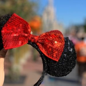Disney Parks | Sequin Black and Red Minnie Ears